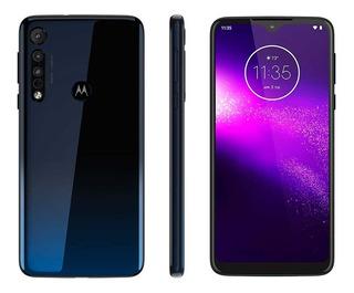 Smartphone Motorola One Macro 64gb Azul 4gb Ram Câm. Tripla