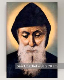 Cuadro De San Charbel | 50x72 Cm | Sobre Lienzo Con Bastidor
