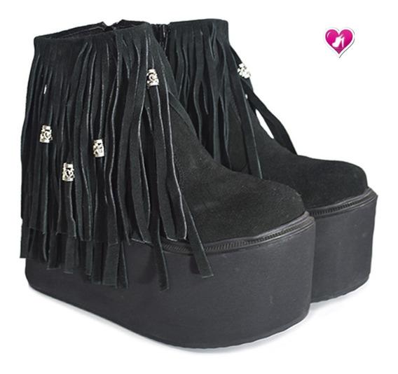 Bota Botineta Ultra Con Flecos Modelo Ozuna De Shoes Bayres