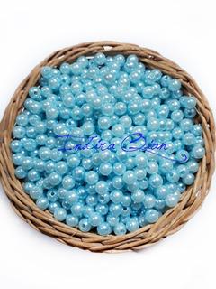 100 Perlas Celestes 6 Mm *por Mayor* Insumos Bijou. Ac - Q