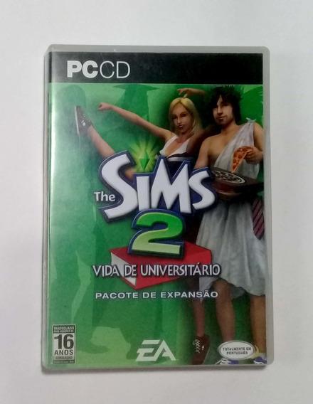 Jogo Pc Cd - The Sims 2 Vida De Universitário Com Pacote De Expansão - Original