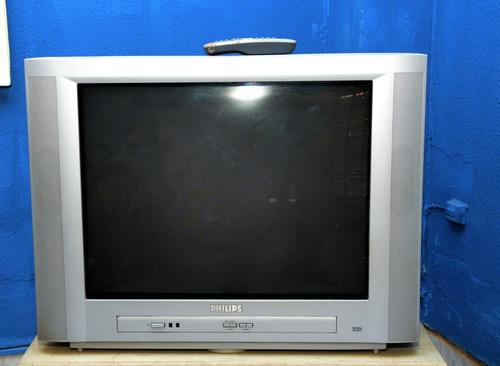 Vendo Tv Philips Gris C/ Control Remoto. Excelente Estado