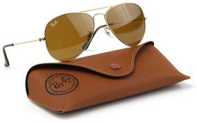 7fcf74d95 Óculos De Sol Ray-ban Aviador Original Masculino Feminino