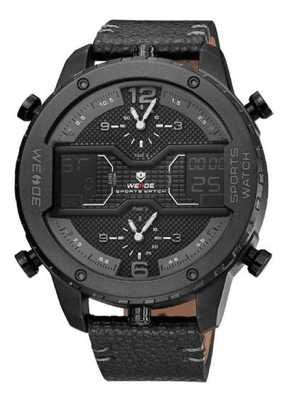Relógio Weide Original Anadigital 6401 Preto 3 Horários