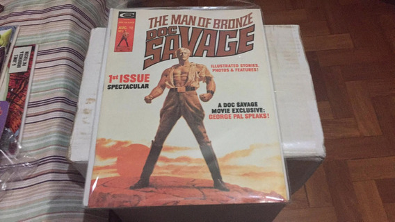 Doc Savage Homem De Bronze N# 1 Marvel Hqs E Material Filme