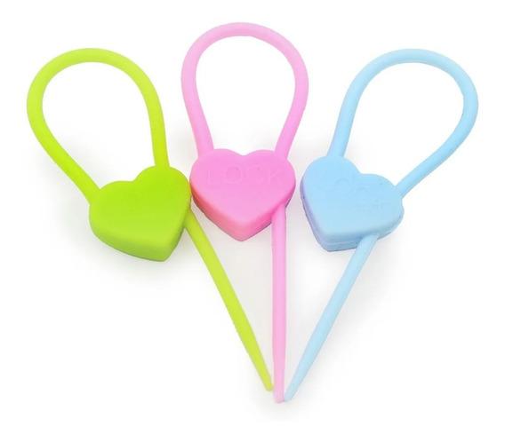 Prendedor Lacre De Silicone Para Embalagens Fios Chaves 3pcs