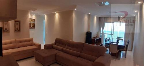 Apartamento 3 Dormitórios 1 Suíte, Terraço Gourmet, Vista Mar, 2 Vagas, Lazer Completo, Aceita Financiamento, 120 M² - Canto Do Forte - Praia Grande - Ap2269
