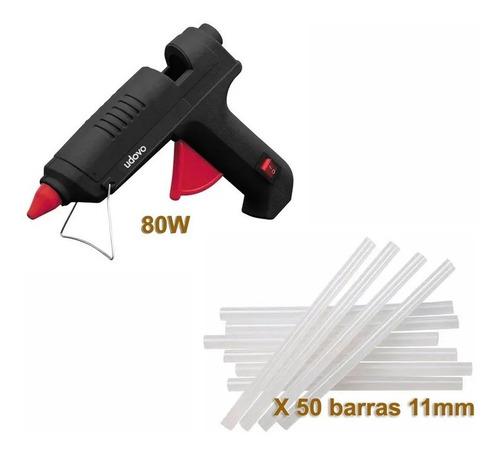 Pistola Silicona 220v 80w Encoladora Silicona + 50 Barras!!!