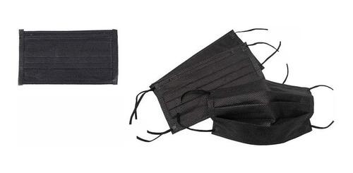 Barbijo Friselina X 10 Unidades Doble Capa Negros