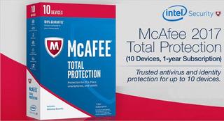 Mcafee Antivirus Total Protection 2017 Hasta10 Dispositivos