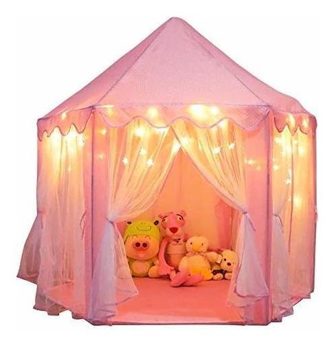 Tienda De Campaña Orian Princess Castle Para Niñas Con Luce
