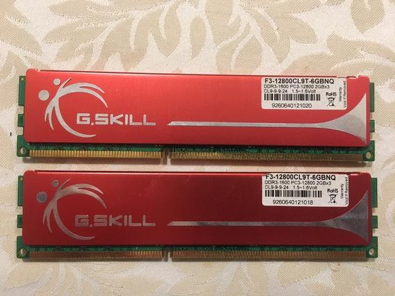 Memória Ddr 3 G.skill 4gb (2x2gb) - 1600mhz (cl9) - Top!
