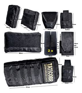 Kit De 10 Acessórios Colete Modular Ripstop Ou Cordura Pmmg