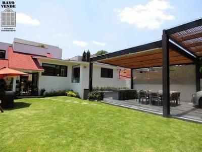 Condominio Horizontal En Venta Pedregal Con Gran Jardin