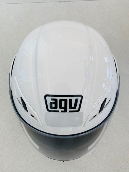 Capacete Agv Compact Numo Monocolor Branco