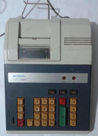 Calculadora Eletrônica General - Teknika 2002 P - Funciona