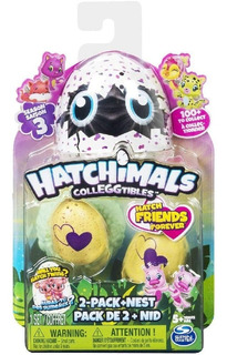 Hatchimals Hatch Friends Forever, 2 Figuras + Nido T 3
