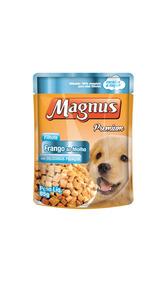 Ração Magnus Para Cães Sache Filhote Frango Ao Molho 85gr