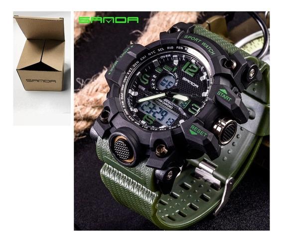 Relógio Esportivo Militar S-shock Sanda 742 Grande