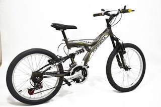Bicicleta Mtb R20 Doble Suspension 18 Velocidades