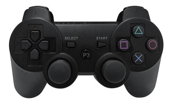 Controle Ps3 Dualshock 3 Sixaxis Sem Fio Ps2 Ps1 Pc - 4 Em 1