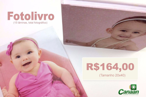 Álbum Fotográfico Encadernado Capa Dura Fotolivro - 20x40