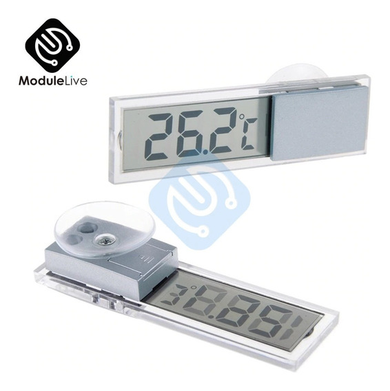 Relógio Temomêtro Temperatura Digital Carro Com Ventosa