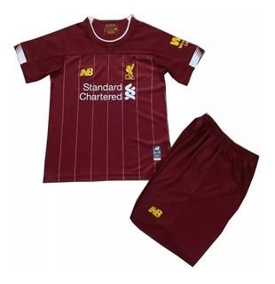 Kit Infantil Liverpool 19/20 New Balance Pronta Entrega
