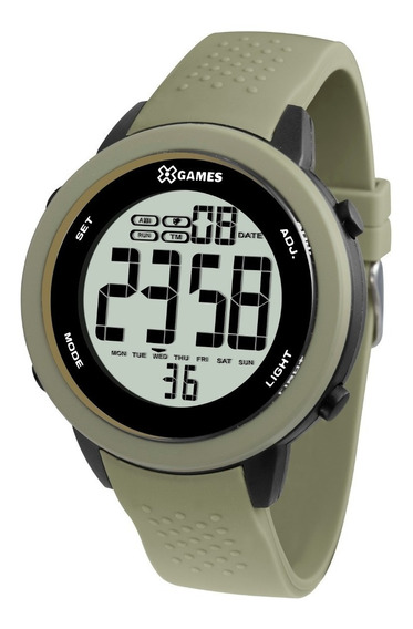 Relógio X-games Masculino Digital Xmppd472 Verde Militar