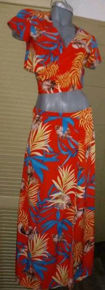 Conjunto Available Falda Top Playa Boho Envolvente Cruzado