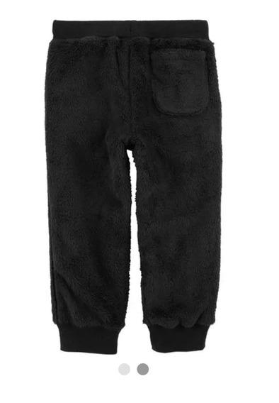 Pantalon Jogging Abrigado De Peluche Carters 4 Años. Negro