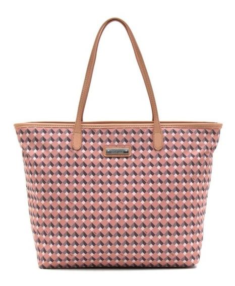 Bolsa Feminina Shopper Santa Lolla Mosaico Rosa - Original
