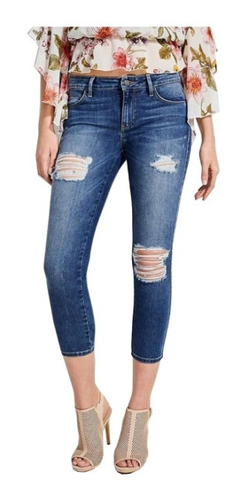 Pantalon Guess Sexy Curve Cropped Jeans Original