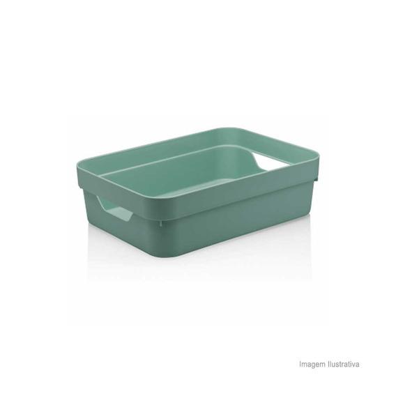 Caixa Organizadora Cube 16l Grande Baixa Verde Menta Ou Ou