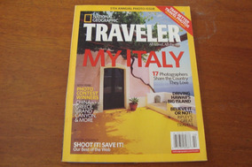 Revista Importada National Geographic / My Italy Em Ingles