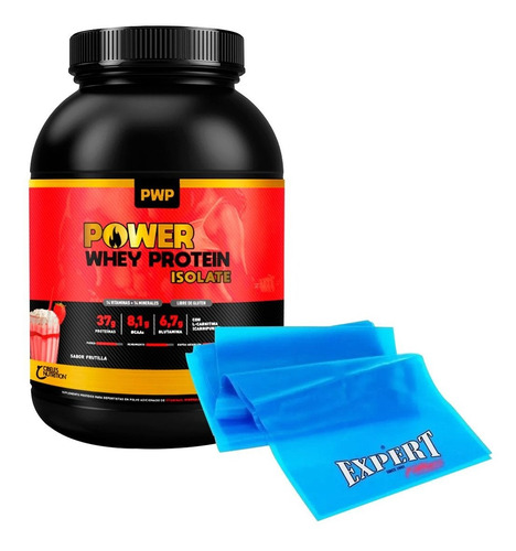 Suplemento Pwp Whey Protein Isolate 908g + Theraband! El Rey
