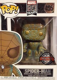 Funko Pop Marvel #495 80th Spider Man Patina Nortoys