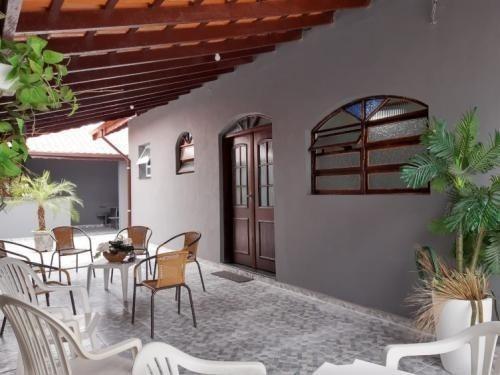 Linda Casa Lado Praia Com 3 Quartos, Em Itanhaém