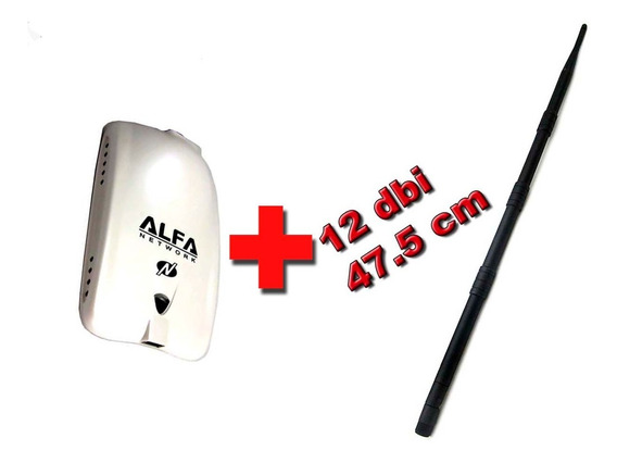 Alfa Wifi Awus036nhr V2 + Antena 12 Dbi Auditoria