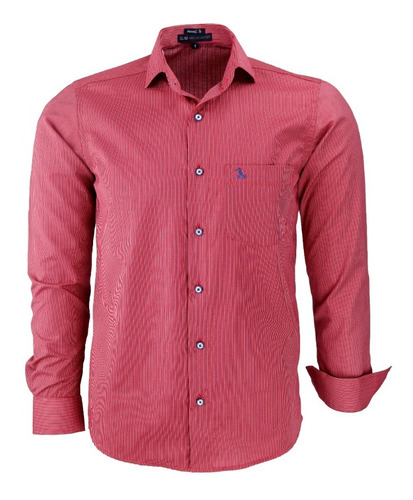 Imagem 1 de 3 de Camisa Social Masculina Amil Tec Misto Fácil De Passar 1668