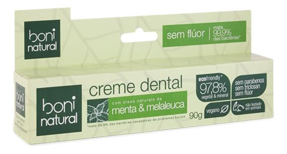 Creme Dental S/ Flúor Natural Menta E Melaleuca Boni Classy