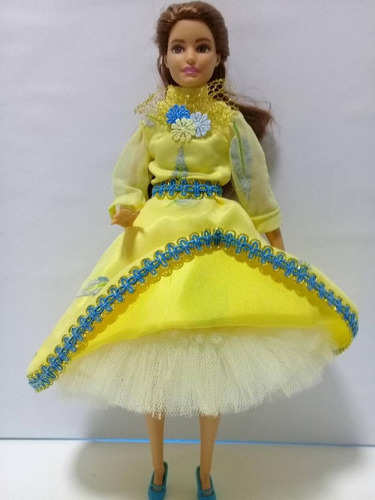 Imagen 1 de 6 de Vestido Para Muñeca Barbie Y Similar ,ropa Marca Propia .