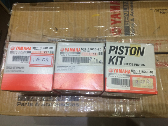 Kit Pistao Ybr125 Xtz125 Original Yamaha Std 0,50 E 1,0mm