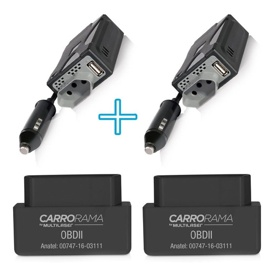 2 Inversores De Potencia 220v + 2 Computador Bordo Pra Carro