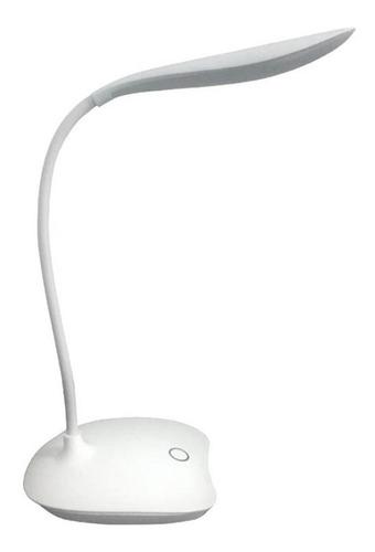 Imagem 1 de 9 de Luminária Led Recarregável Para Mesa Flexível 360 Garra Clip