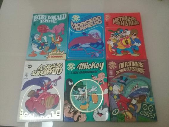 Lote Gibis Walt Disney Edição Luxo C/ 6 Unid. 1,1,2,3,4 E 5