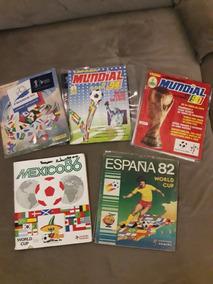 Kit Com 5 Álbuns Copa 82 86 90 94 98 Completos