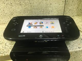Nitendo Wii U Negra Programada Con 40 Juegos En Disco