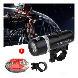 Kit Lanterna Farol Bike Bicicleta + Luz Traseira + Suportes