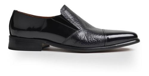 Zapatos De Cuero Tipo Mocasin De Hombre Stefano - Ferraro -